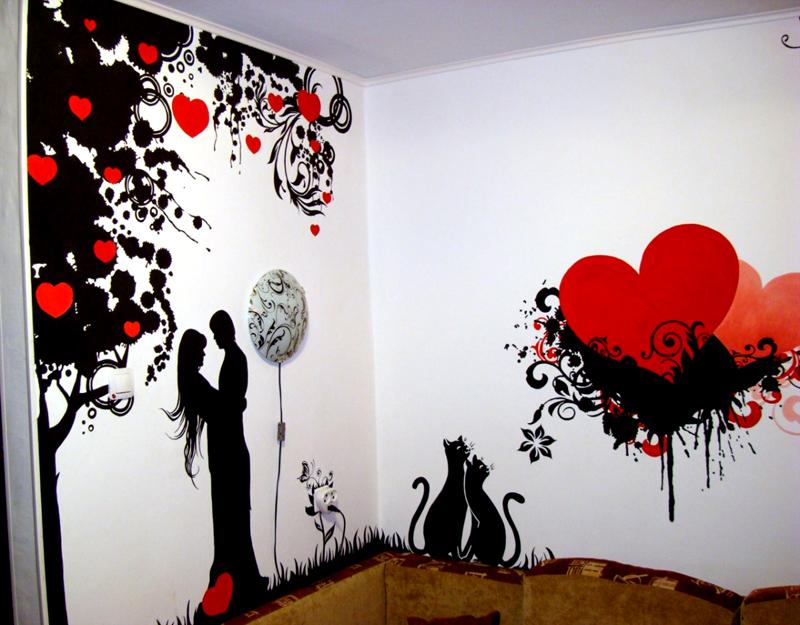 Красивые рисунки на стену
