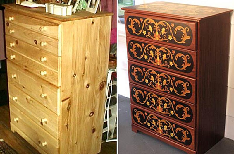Реставрация мебели фото своими руками