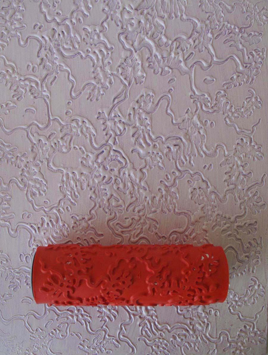 Декоративная штукатурка с помощью валика