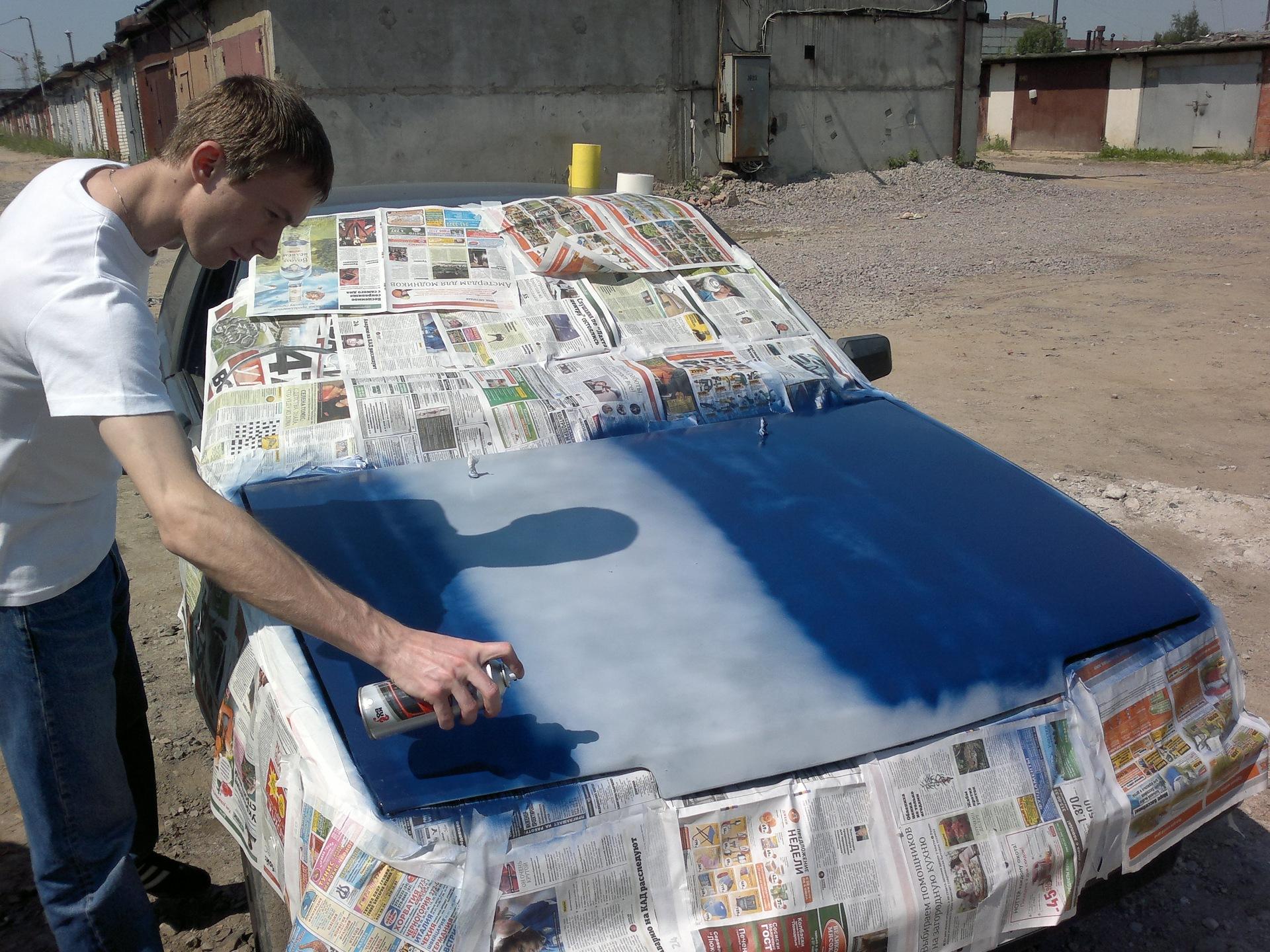 Как покрасить автомобиль своими руками из баллончика видео