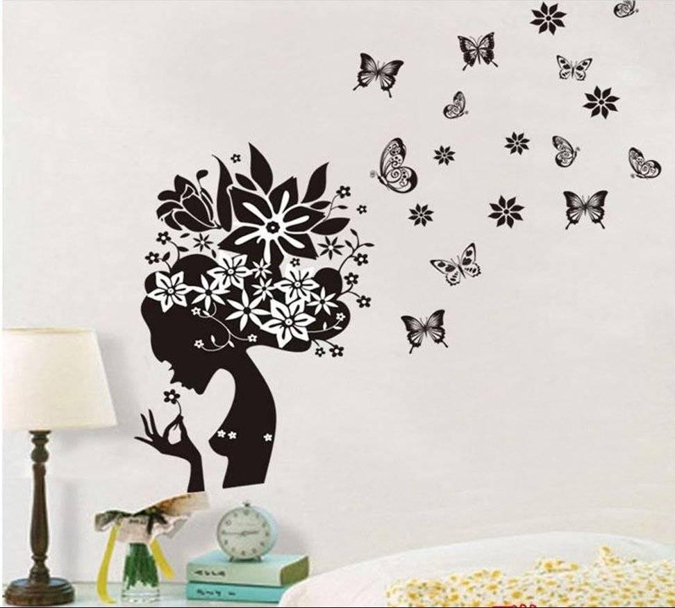 Узоры из цветов на стену своими руками