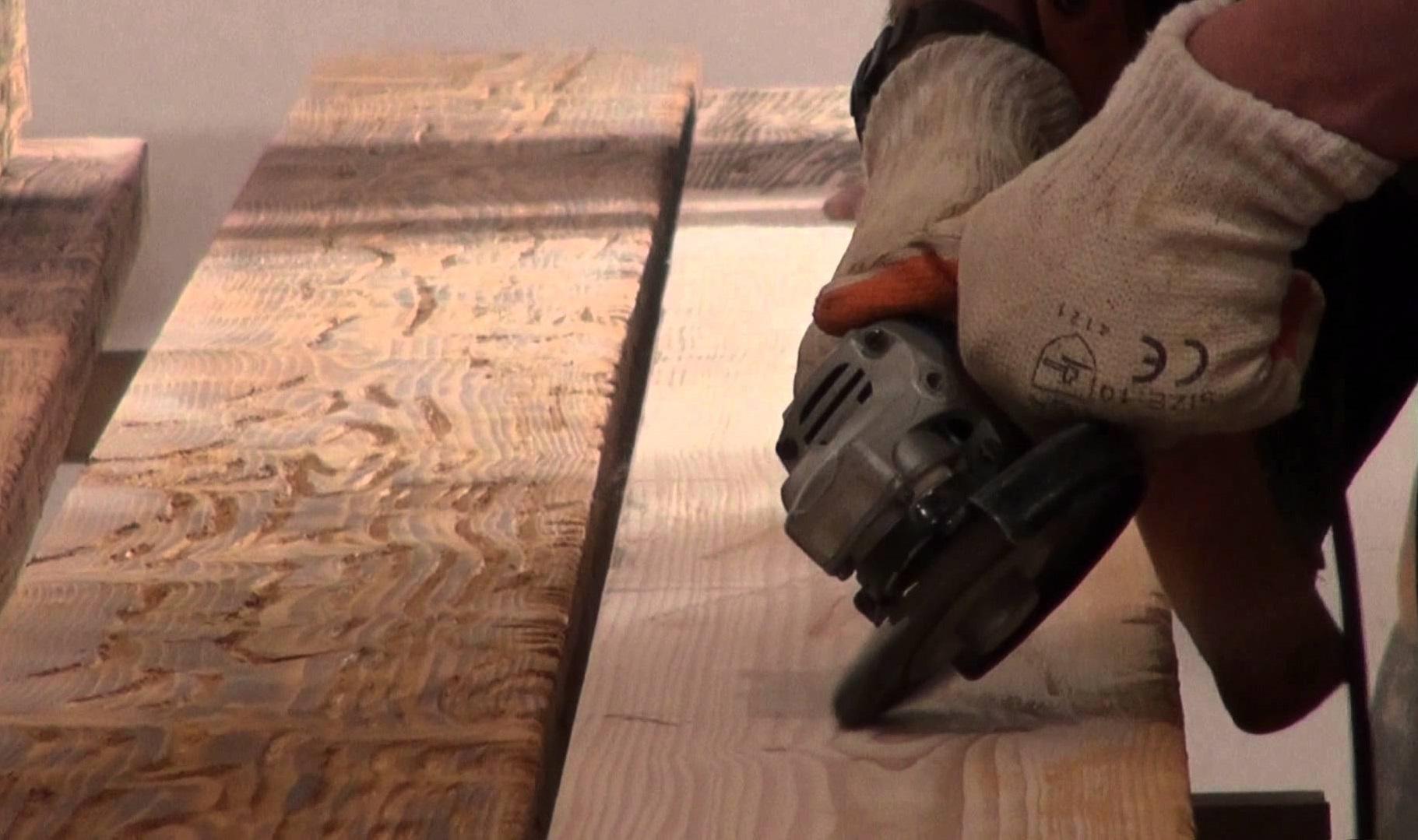 Обработка древесины под старину своими руками