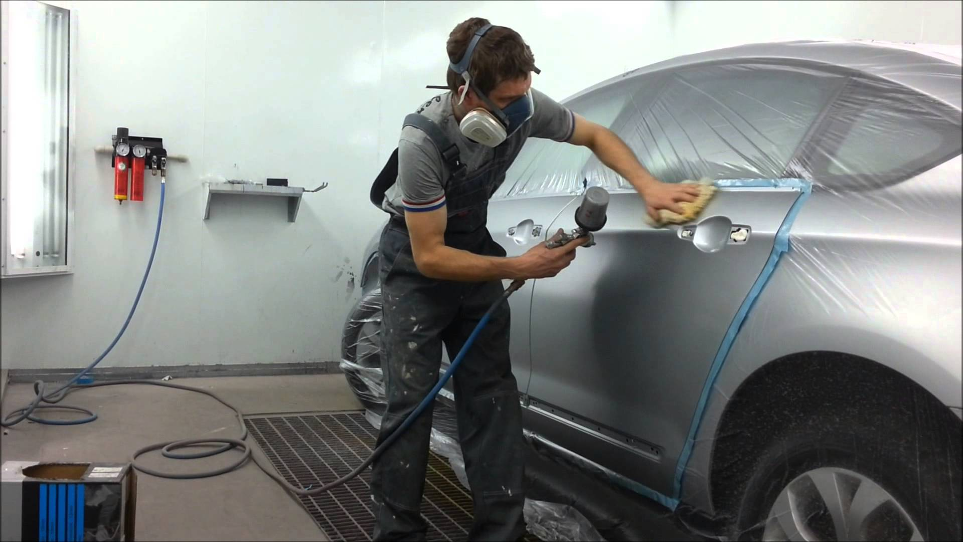 Как покрасить авто в серебристый металлик цвет своими руками