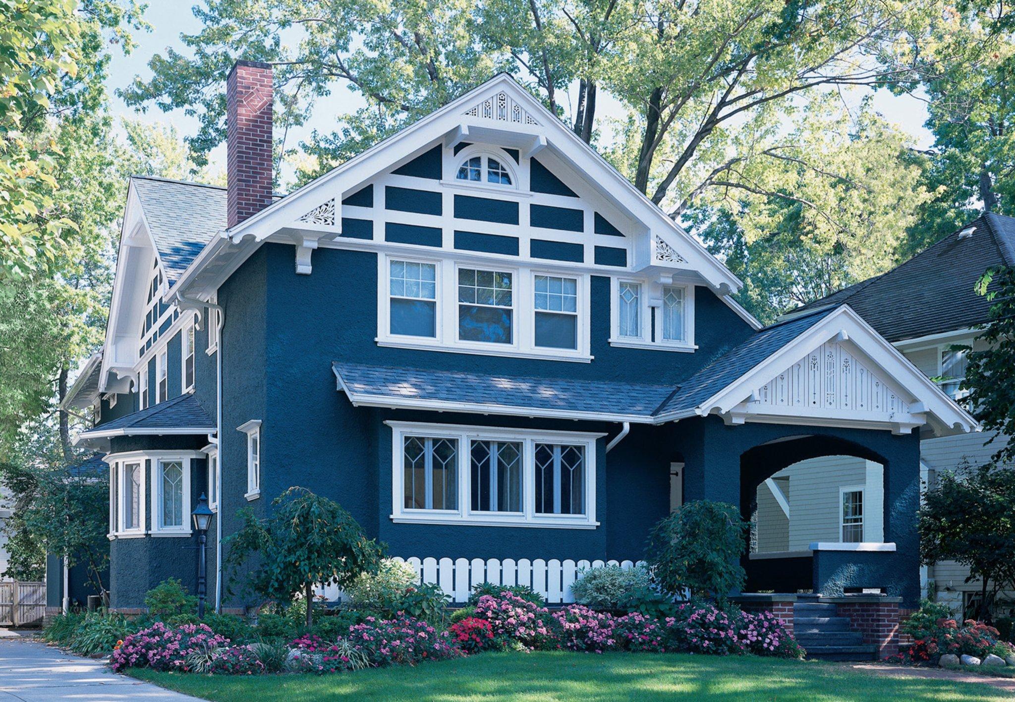 Фото цветов фасадов домов