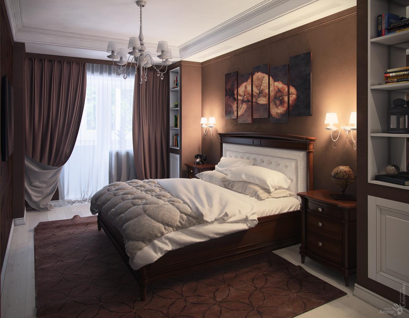 Темная спальня дизайн