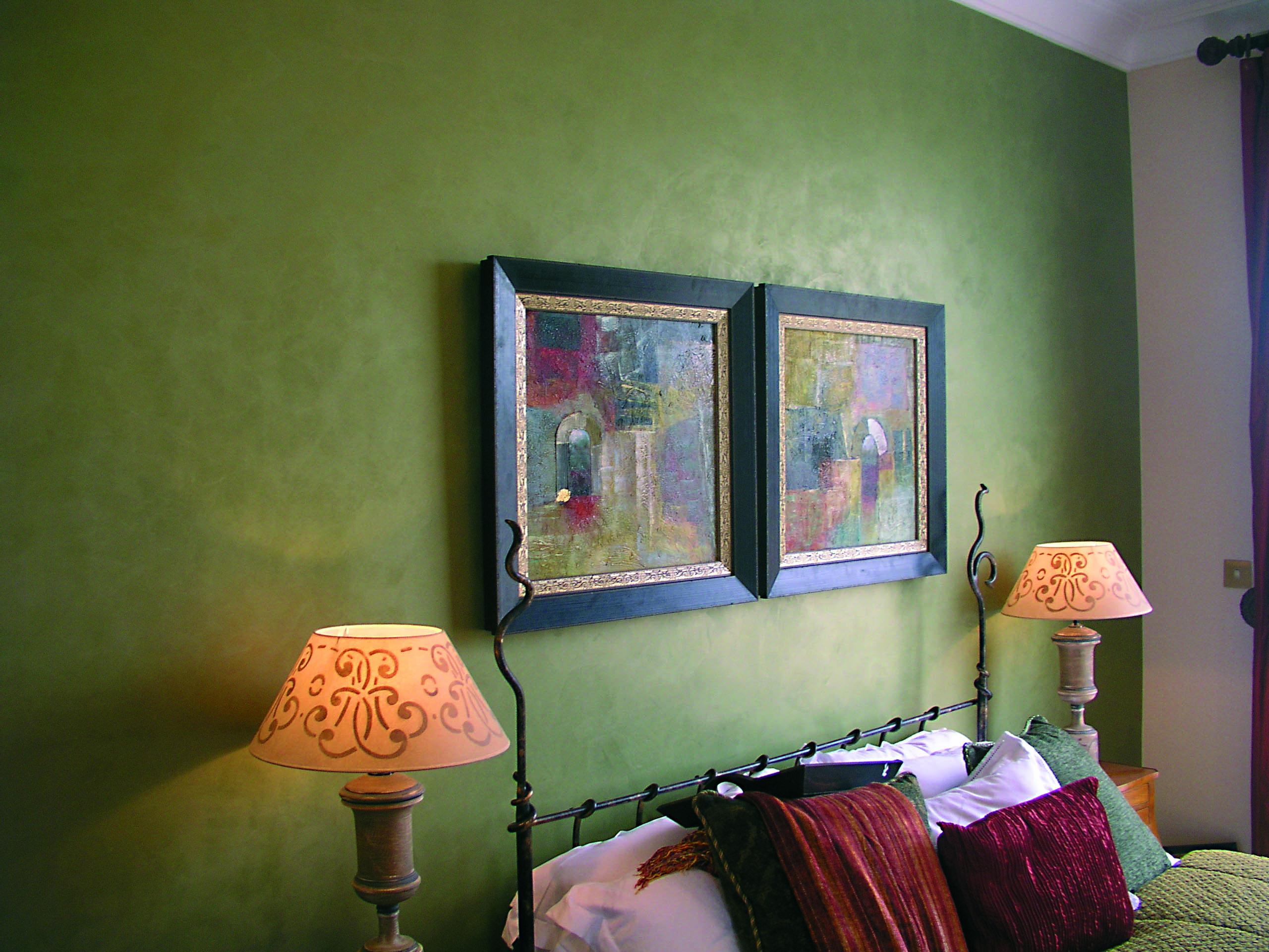 Шелковая краска в интерьере фото