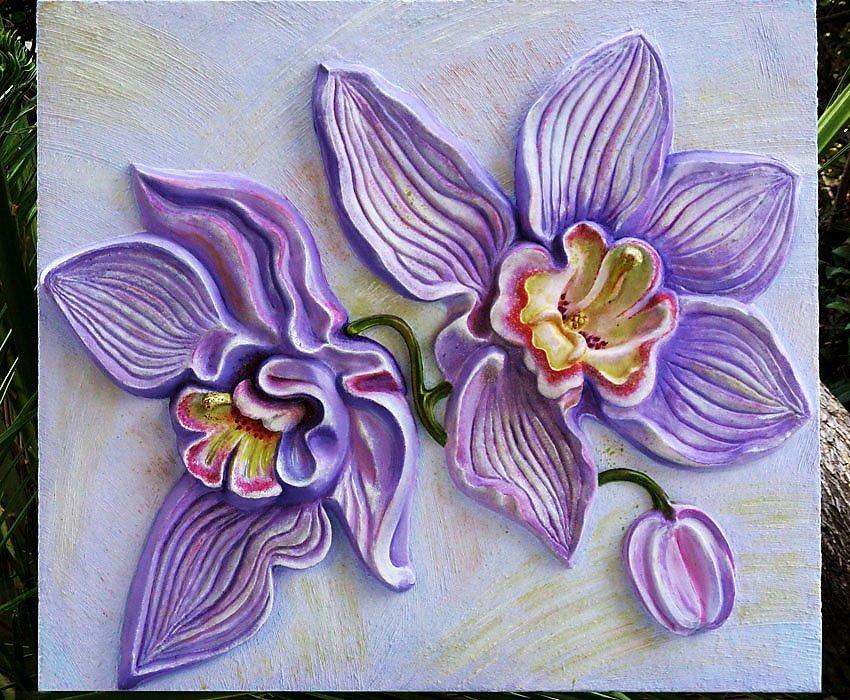 Как сделать цветы из шпаклевки