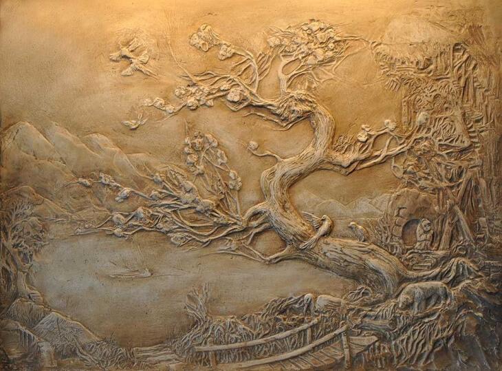 "Мастер класс по картинам из шпаклевки - Мастер-класс: объемная картина из шпаклевки "" дневник"
