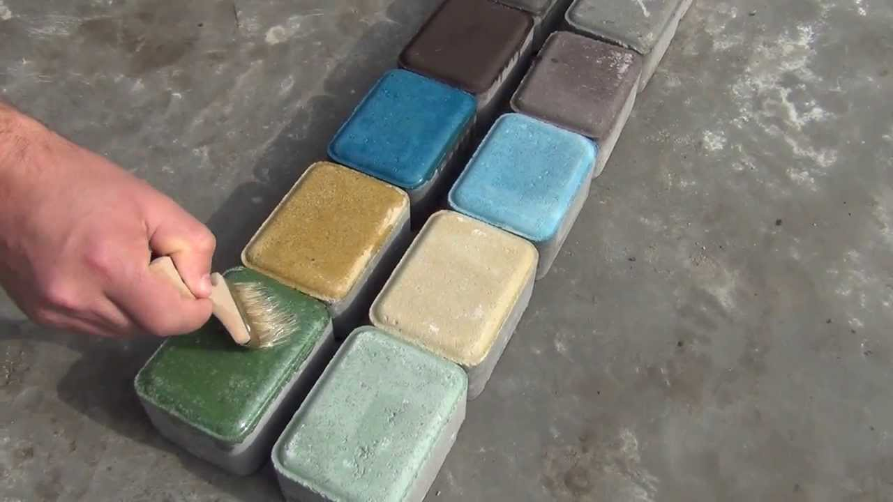 Как сделать краску для тротуарной плитки
