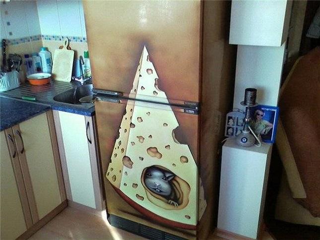 Обклеиваем холодильник своими руками 422