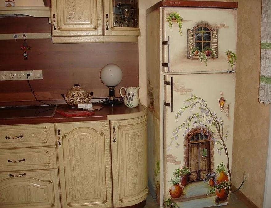 Холодильник в стиле прованс своими руками