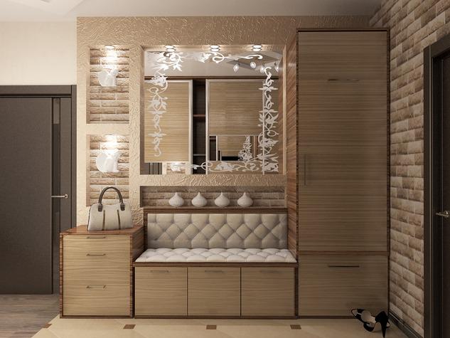 Дизайн прихожей с диваном квартире