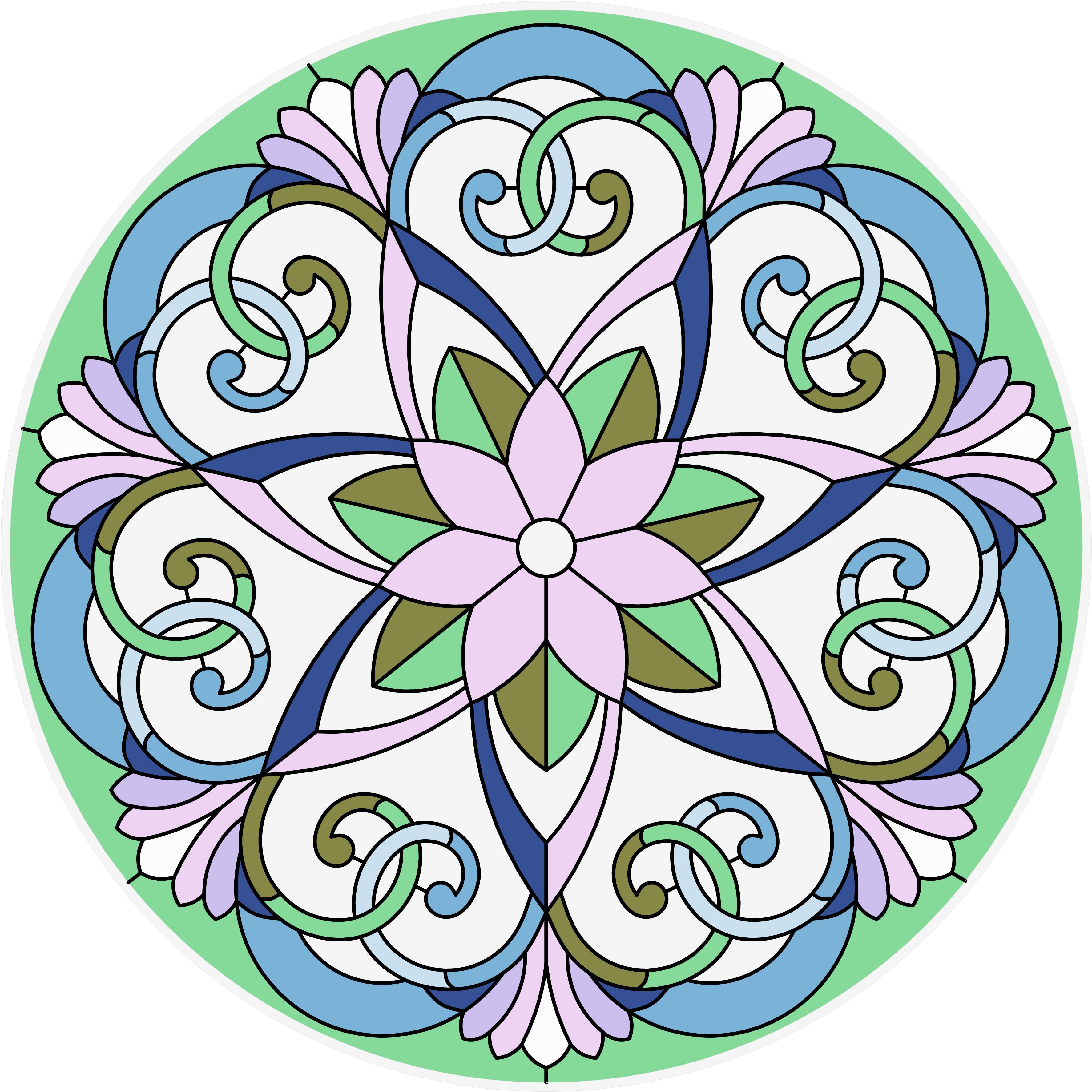 Круглые трафареты для росписи по стеклу
