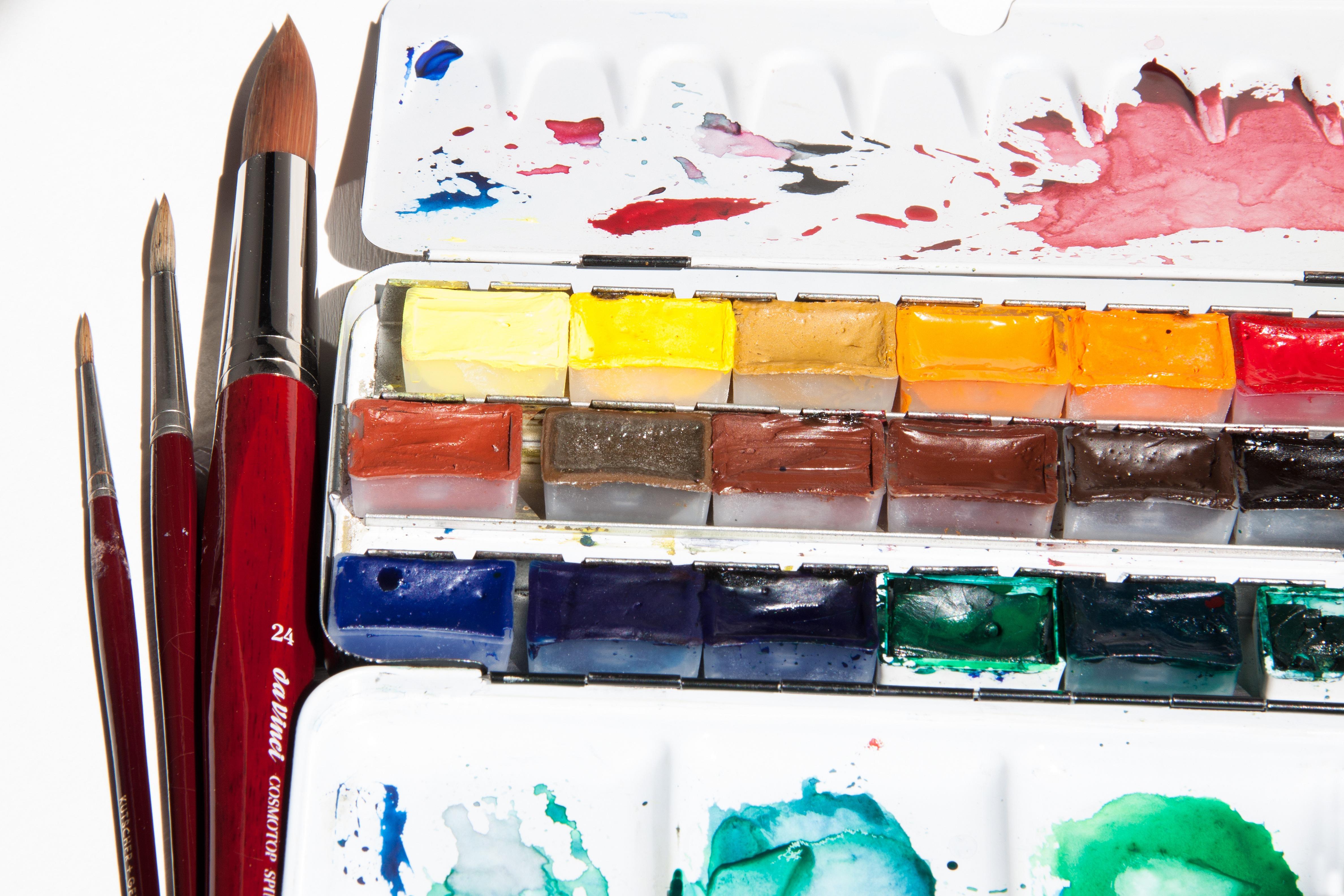 Как сделать из акварельных красок 622
