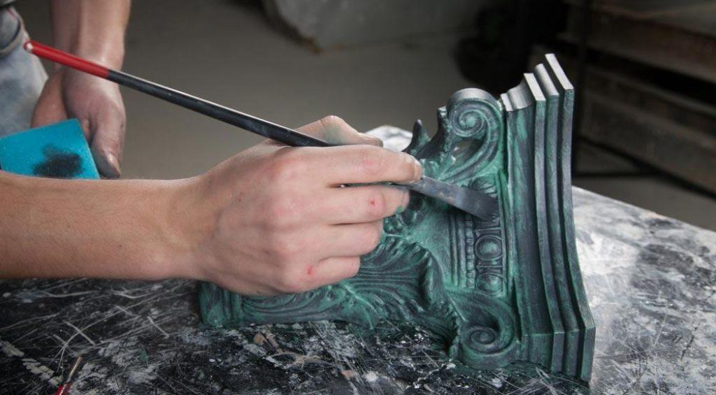 Декоративная покраска металла