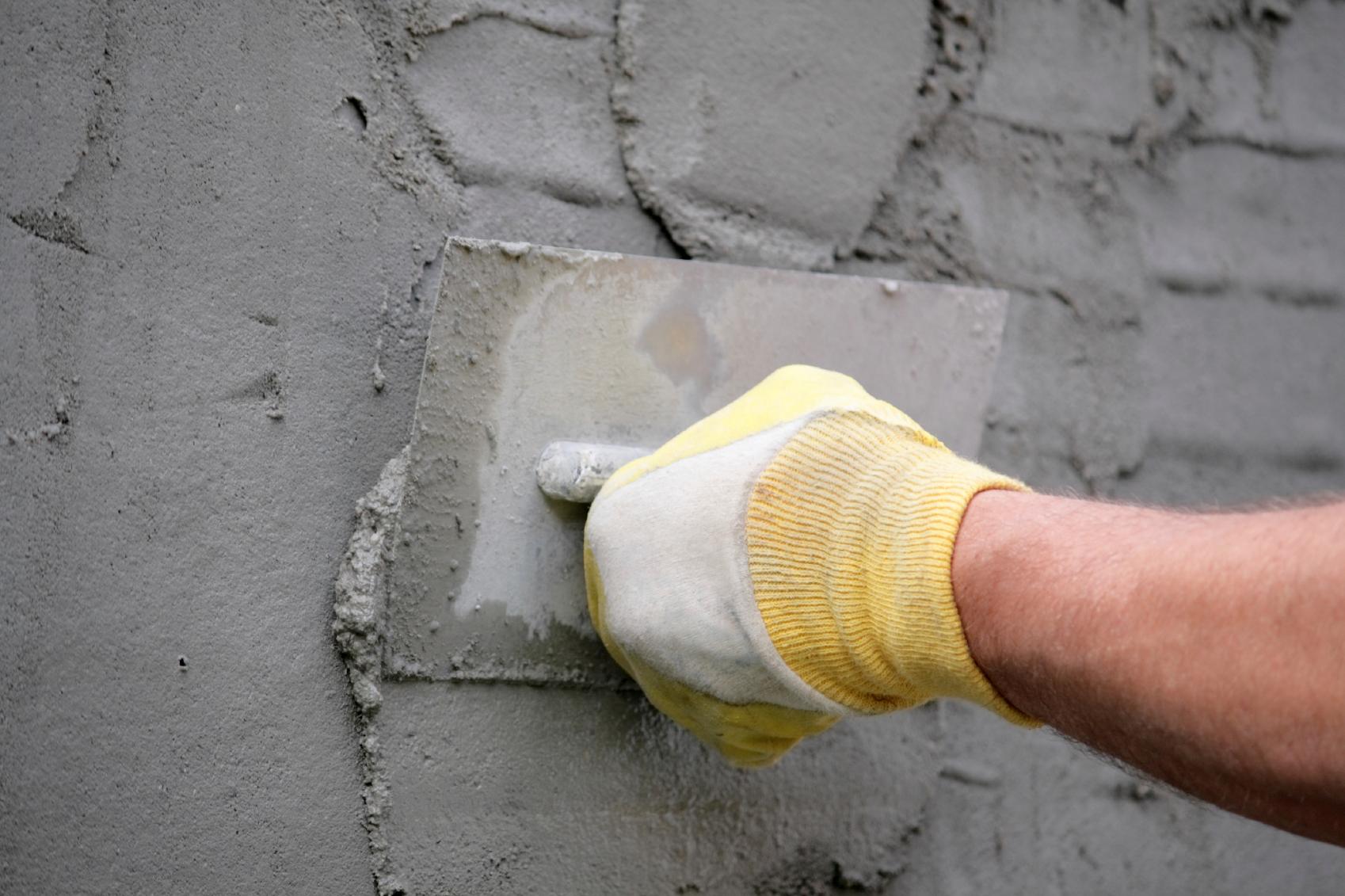 Штукатурка известково-цементным раствором своими руками