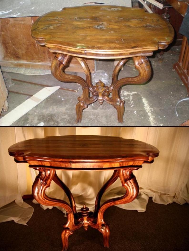 Реставрация деревянного стола своими руками мастер класс