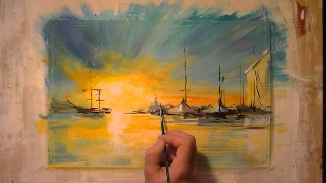 Как научиться рисовать масляными красками пейзаж