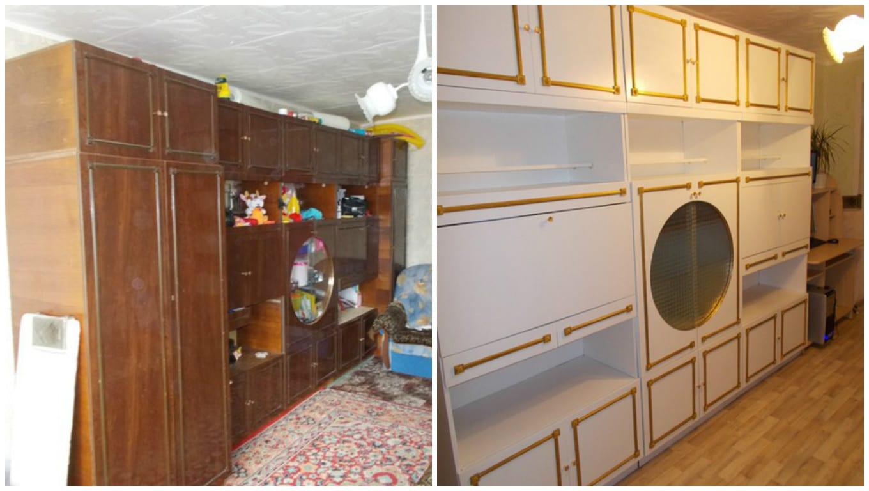 Реставрация мебельной стенки своими руками фото