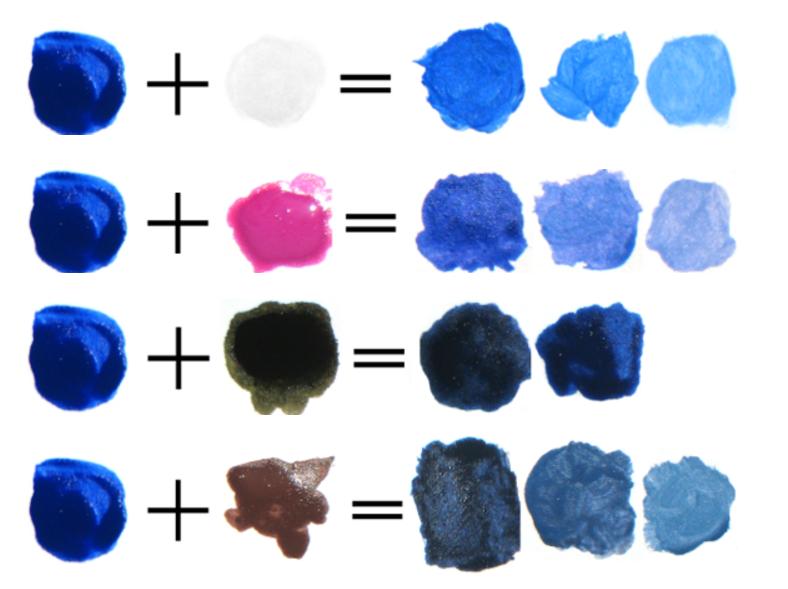 Как из красного цвета сделать синий 553
