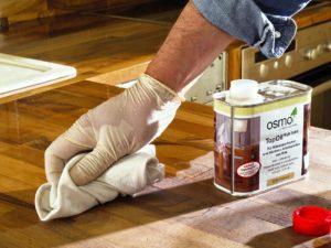 Обработка древесины оливковым маслом