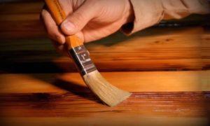 Покрытие деревянной поверхности маслом