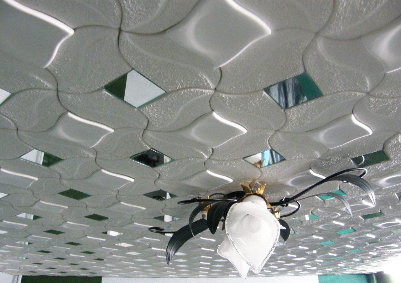 потолок из плиток пенопласта фото предстоит угадывать