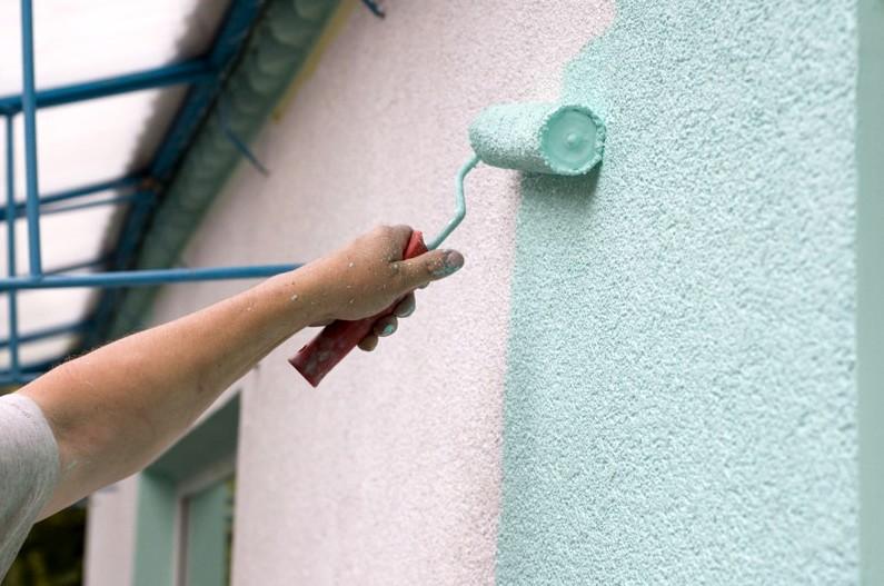 Расход краски на 1м2 по фасадной штукатурке в зависимости от.