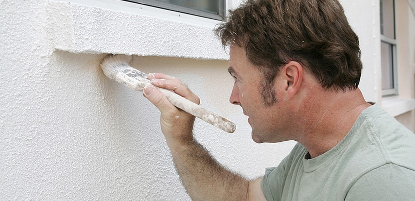 окраска бетонных фасадов