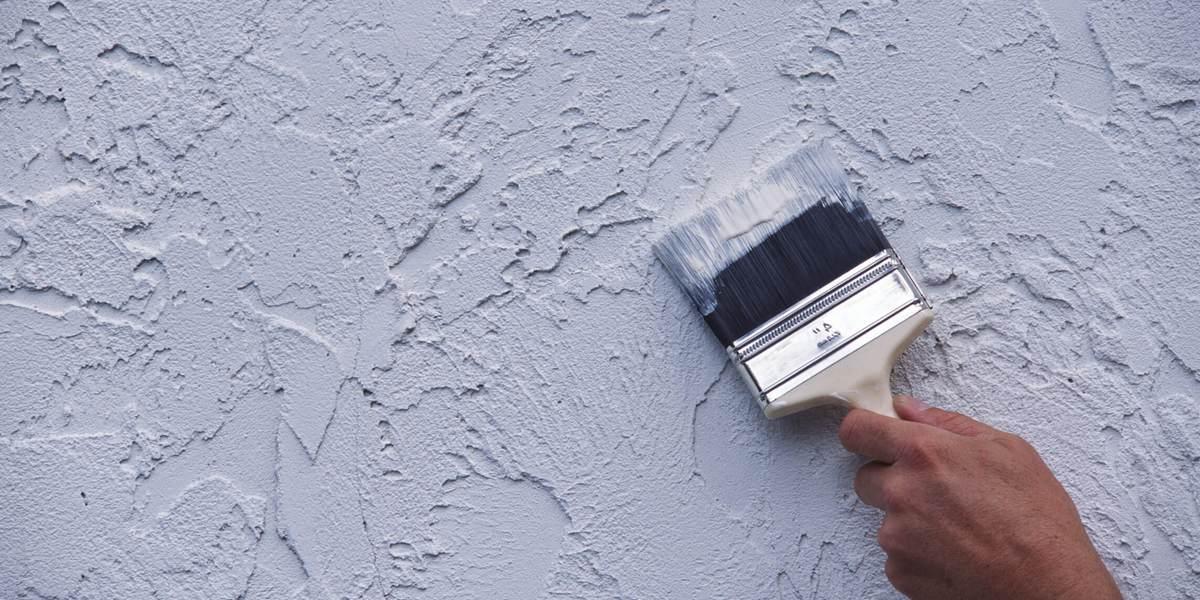 Фактурная краска для стен в ванной