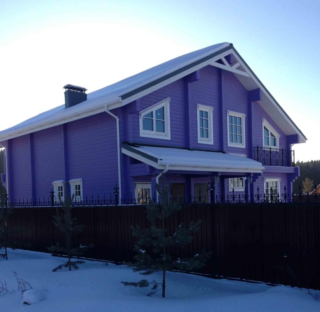 Цвет окраски дома