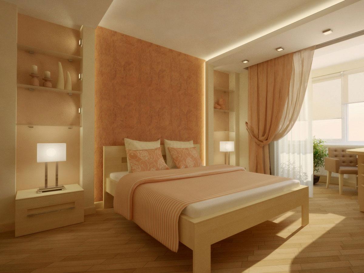 спальня в персиковых тонах фото ребятки