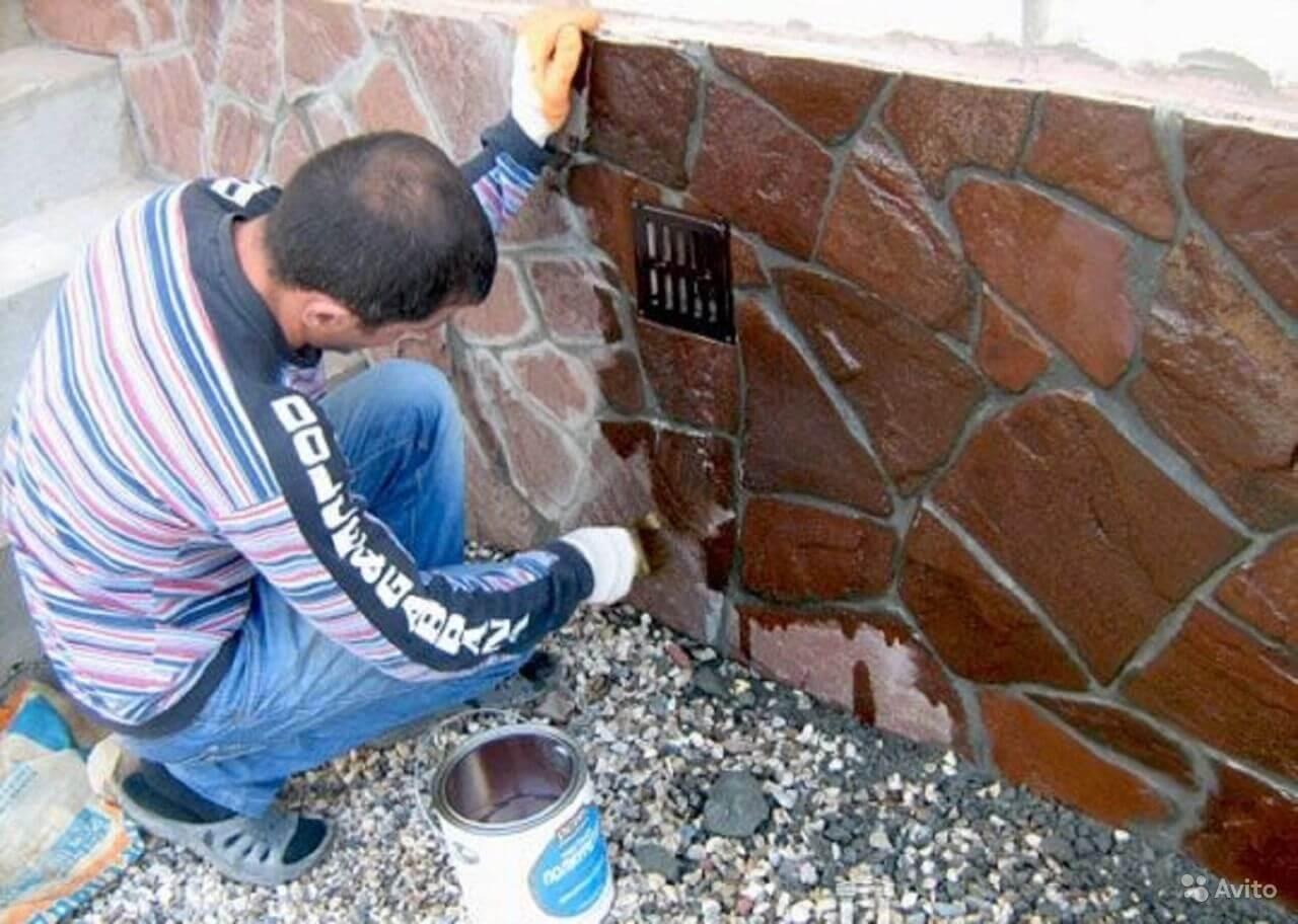 Краска по бетону для цоколя купить охра бетон