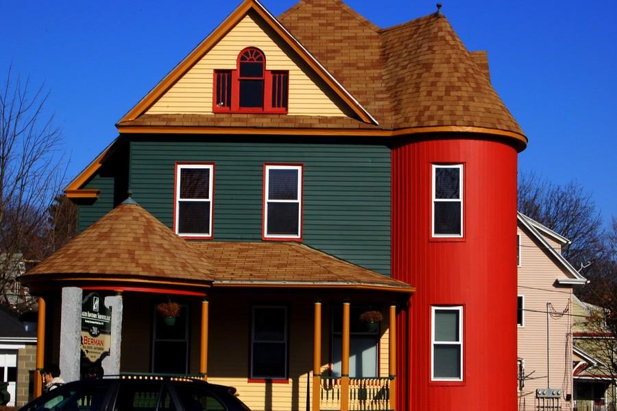 Картинки крашеных домов