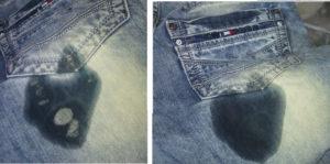 Удаление герметика с одежды