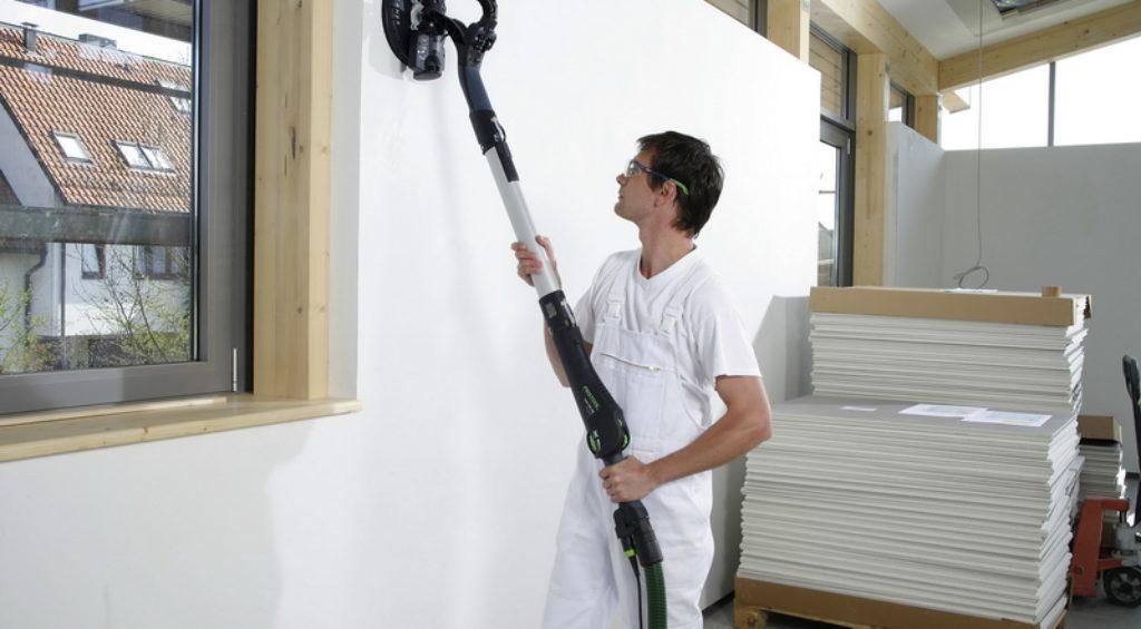 Шпаклевки стен механизированными способами