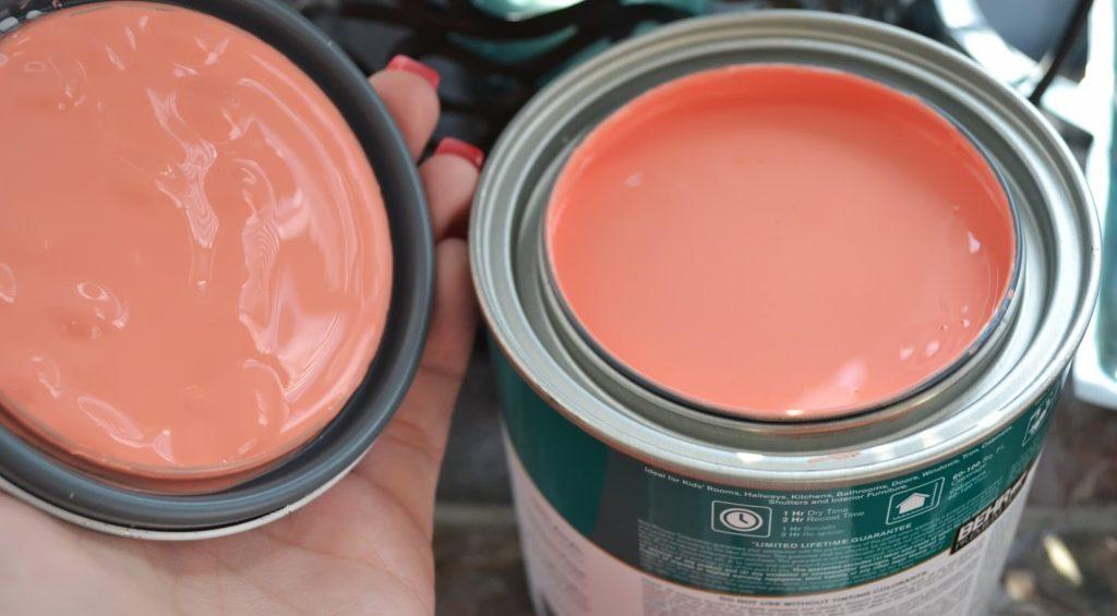 персиковая краска