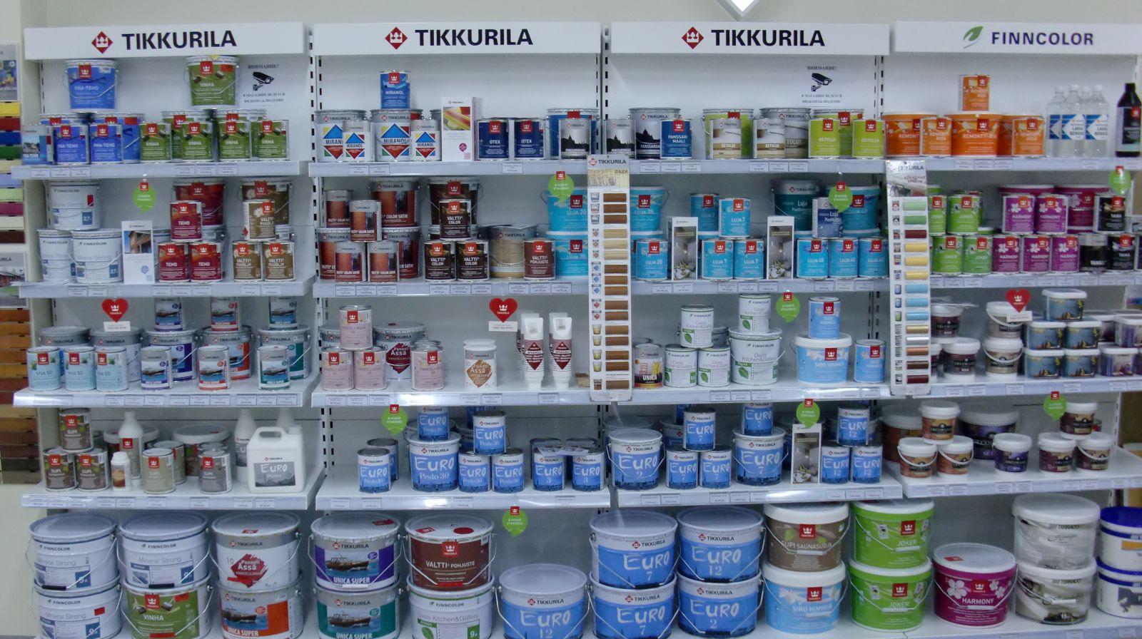 Ассортимент продукции Тиккурила