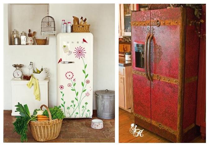 раскрашенный холодильник