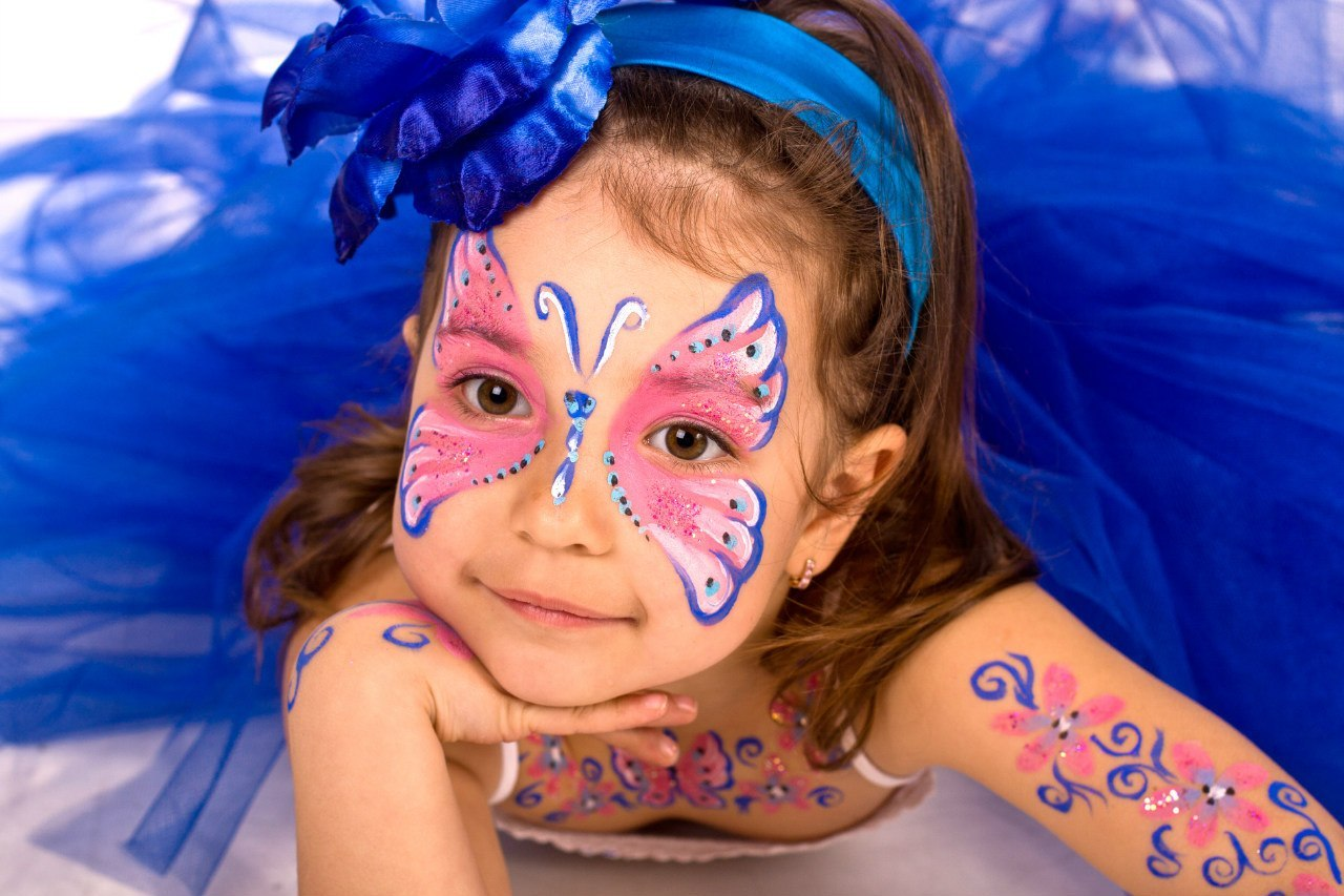Картинки лицо и руки красками