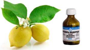 Перекись водорода и лимон против пятен от краски