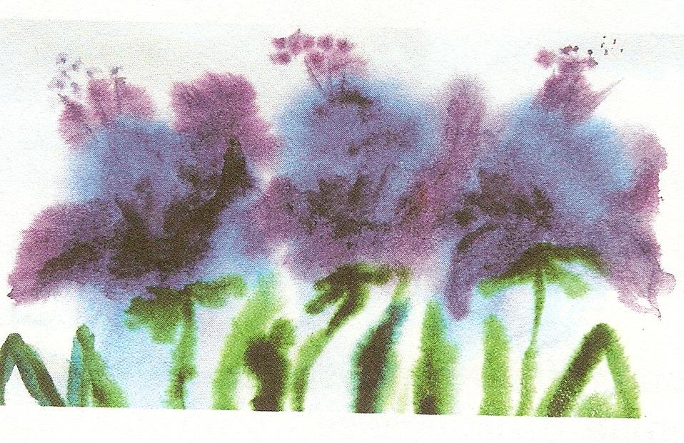 Mokraya-bumaga-4 Рисунки акварелью для начинающих Примеры для срисовки