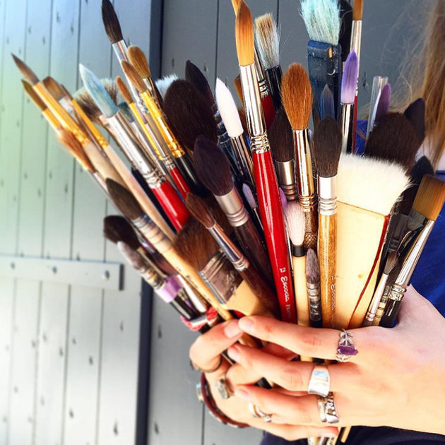 Картинки с инструментами для художника
