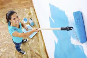 Покраска стен в детской