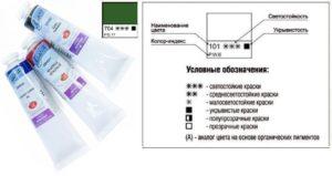 Обозначения на масляных красках