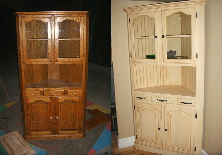 Как покрасить мебель своими руками фото до и после
