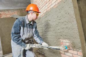 Механизированное оштукатуривание стен