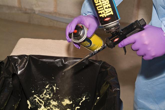 Способы очистки пистолета от застывшей монтажной пены