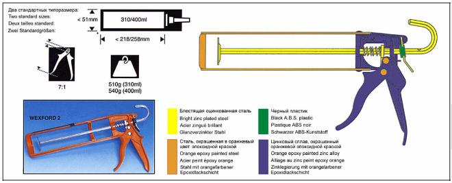 Конструкция приспособления пистолета для жидких гвоздей