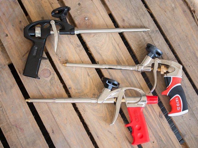 Основные виды пистолетов для монтажной пены